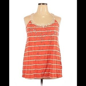 Womens Lane Bryant Sequin & Lace Tank Top 22/24